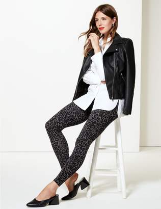 Marks and Spencer Animal Print Cotton Rich Leggings