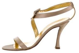Walter Steiger Satin Asymmetrical Sandals