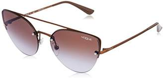Vogue Women's Metal Woman Non-Polarized Iridium Cateye Sunglasses