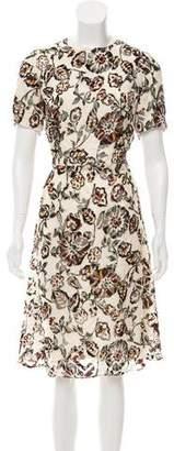 Rodarte Devoré Floral Dress