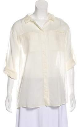 IRO Wool Button-Up Top