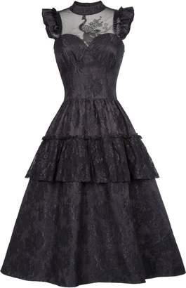 Belle Women Girls Vintage Steampunk Victorian Edwardian Downton Abbey Maxi Dress BP380-1 L