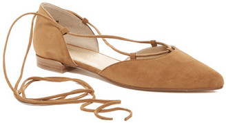 Stuart Weitzman Gilligan Pointy Toe Ghillie Flat $398 thestylecure.com