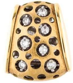18K Diamond Perforated Slide Pendant
