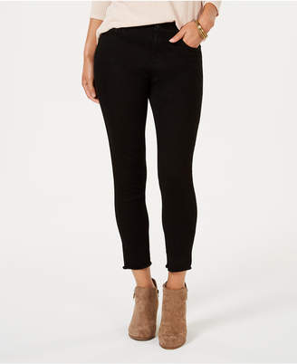 Style&Co. Style & Co Skinny Frayed-Cuff Ankle Jeans, Created for Macy's