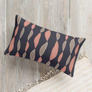 Beaded Leaves Self-Launch Lumbar Pillows
