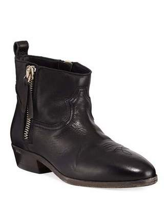 Golden Goose Viand Flat Leather Ankle Boots
