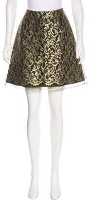 Alberta Ferretti Lace Mini Skirt