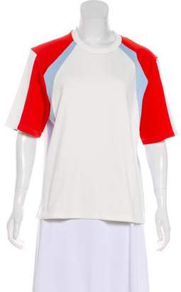 Tory Sport Structured Short Sleeve Top