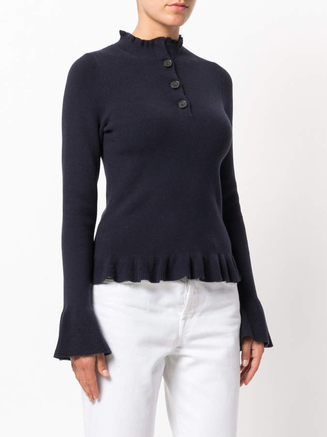 See by Chloe ruffle knit sweater