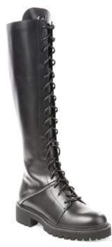 Giuseppe Zanotti Tall Leather Combat Boots