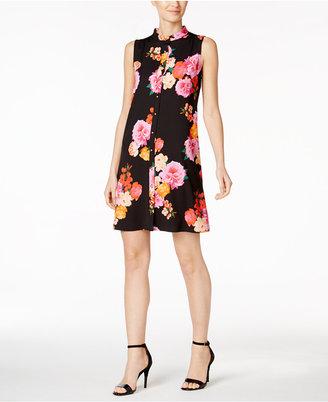 Calvin Klein Floral-Print Shirtdress $119 thestylecure.com