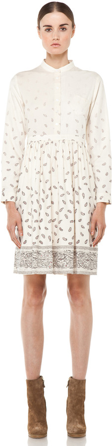 Boy By Band Of Outsiders Baby Doll Dress in Ecru