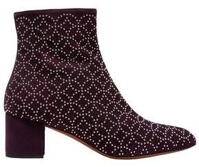 Alaia Studded Suede Ankle Boots