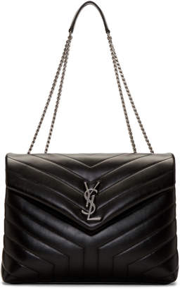 Saint Laurent Black Medium Loulou Chain Bag