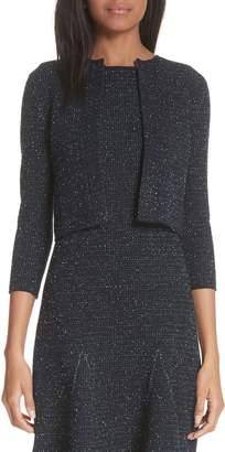 Oscar de la Renta Tweed Knit Cardigan