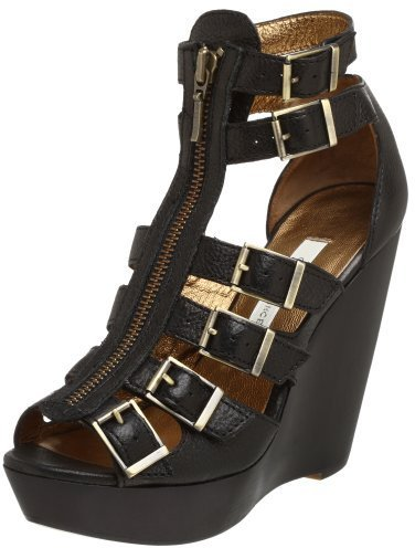 Cynthia Vincent Women's Luella Zip Front Gladiator Wedge