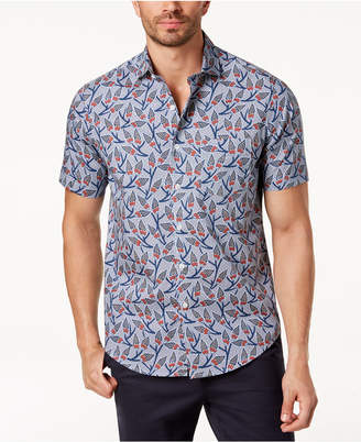 Tasso Elba Men's Protea Floral-Print Shirt, Created for Macy's