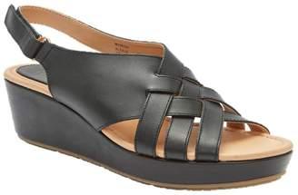 Me Too Leather Wedge Platform Sandals - Alexi