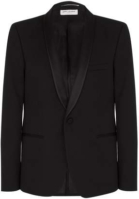 Saint Laurent Satin Shawl Lapel Tuxedo Jacket