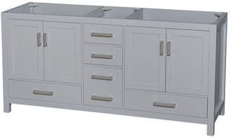 """Wyndham Collection Sheffield 72"""" Double Bathroom Vanity Base Only Base"""