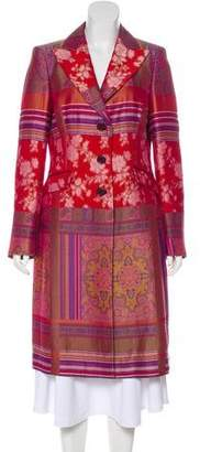 Etro Jacquard Long Coat