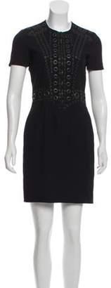 Givenchy Eyelet-Accented Mini Dress Black Eyelet-Accented Mini Dress