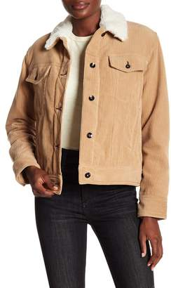 Rag & Bone Genuine Lambskin Shearling Trimmed Corduroy Jacket