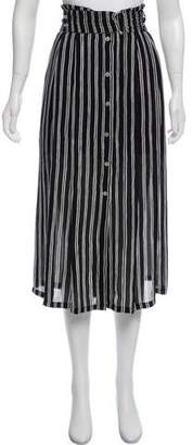 A.L.C. Silk Midi Skirt