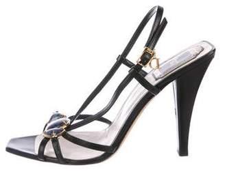 Christian Dior Stone-Embellished Slingback Sandals