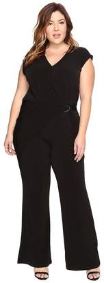 MICHAEL Michael Kors Size Wrap Front Jumpsuit Women's Jumpsuit & Rompers One Piece