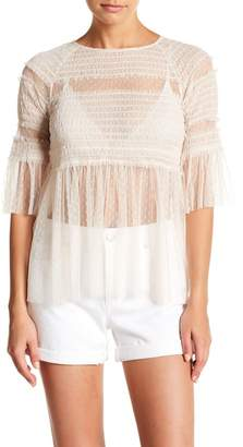 Romeo & Juliet Couture Lace 3/4 Sleeve Top