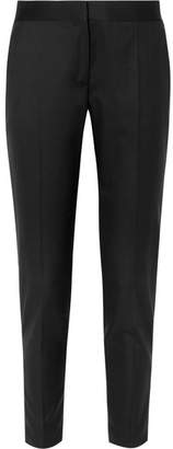 Stella McCartney Vivian Zip-detailed Wool-twill Straight-leg Pants - Black