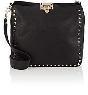 Valentino Women's Rockstud Small Leather Hobo Bag - Black