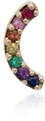 Andrea Fohrman 18K yellow gold Rainbow sapphire emerald earring