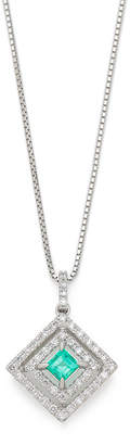 Oriental Diamond プラチナ900エメラルド ダイヤモンド ネックレス プラチナ
