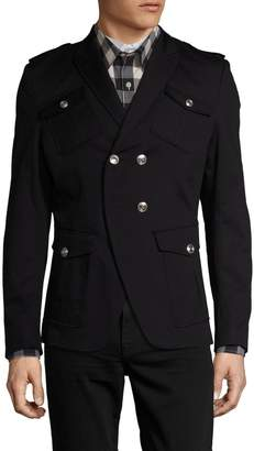 Pierre Balmain Men's Peak Lapel Military Sportcoat