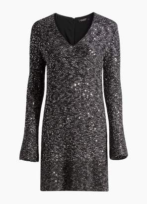 St. John Bejeweled Texture Knit Dress