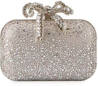 Jimmy Choo Cloud Crystal Bow Clutch Bag