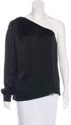 Chloé One-Sleeve Silk Top