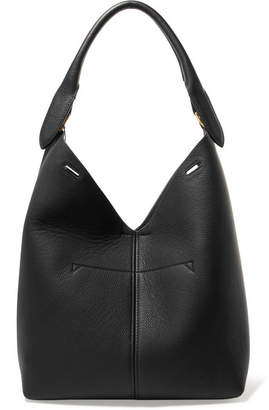 Anya Hindmarch Bucket Small Textured-leather Tote - Black