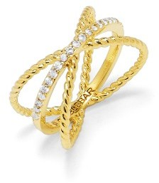 Women's Baublebar Maddy X Crossover Ring $32 thestylecure.com