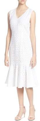 Catherine Malandrino Suz Eyelet Ruffle Dress