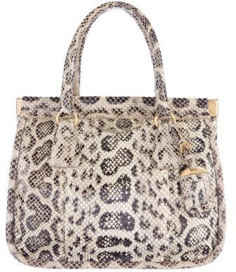 prada Prada Snakeskin Handle Bag