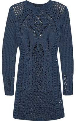 Balmain Crocheted Cotton Mini Dress