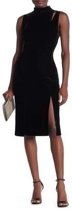 Alexia Admor Velvet Mock Neck Cutout Sheath Dress