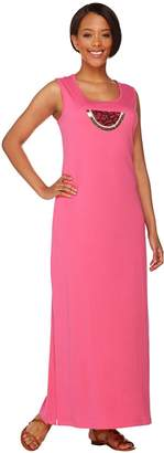 Factory Quacker Regular Sleeveless Maxi Dress with Sequined Motif