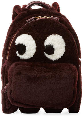 Anya Hindmarch Mini Ghost Sherling Backpack