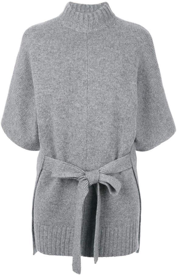 Joseph roll-neck belted knit