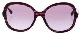 Chanel Bicolor Oversize Sunglasses